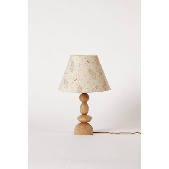 Stacked carved wooden pebble lamp image