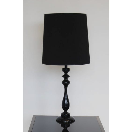 La Fibule black laquered lamp image