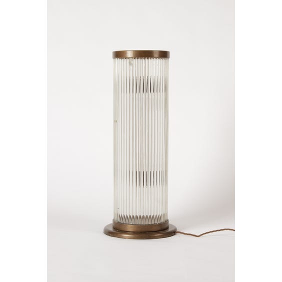 Tall reeded glass column lamp image