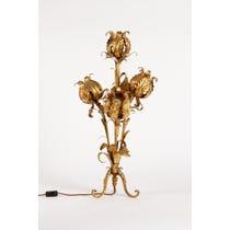 Ornate gold leaf lamp