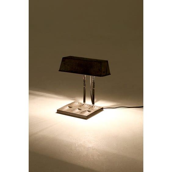 Recylced metal madeleine mould lamp image