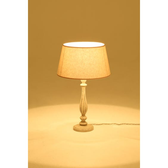 Fluted candlestick table lamp image