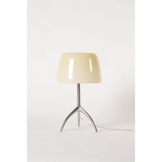 Butterscotch opaque glass chrome lamp image