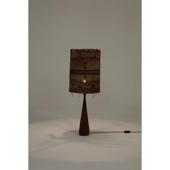 Teak teardrop table lamp  image