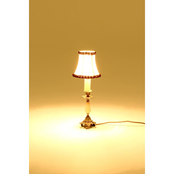 Small French ornate brass lamp image