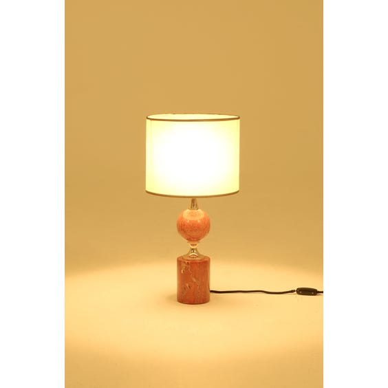 Pink travertine brass Barbier lamp image