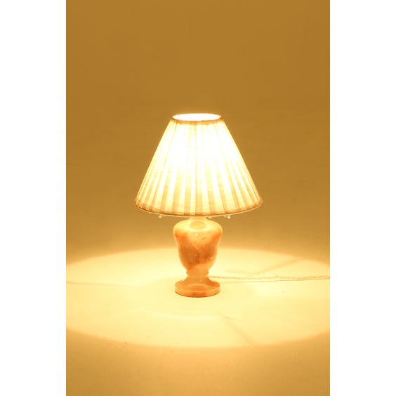 Small peach onyx lamp image