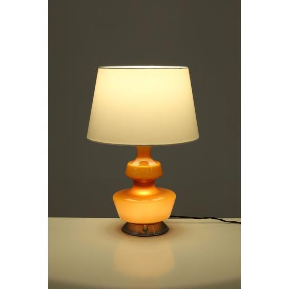 1970s caramel glass table lamp image
