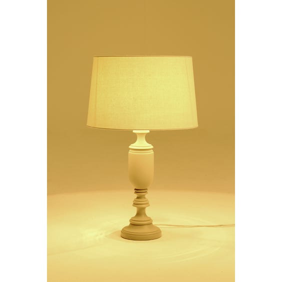 Matte grey urn shaped table lamp image
