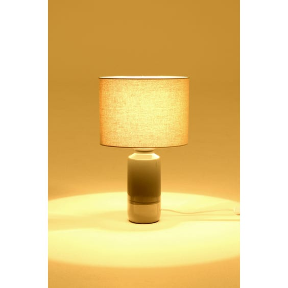 Two tone ceramic table lamp image