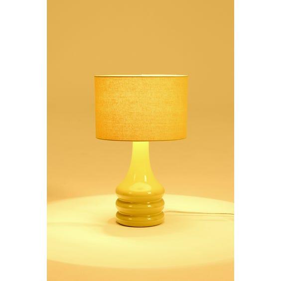 Acid yellow ceramic table lamp image