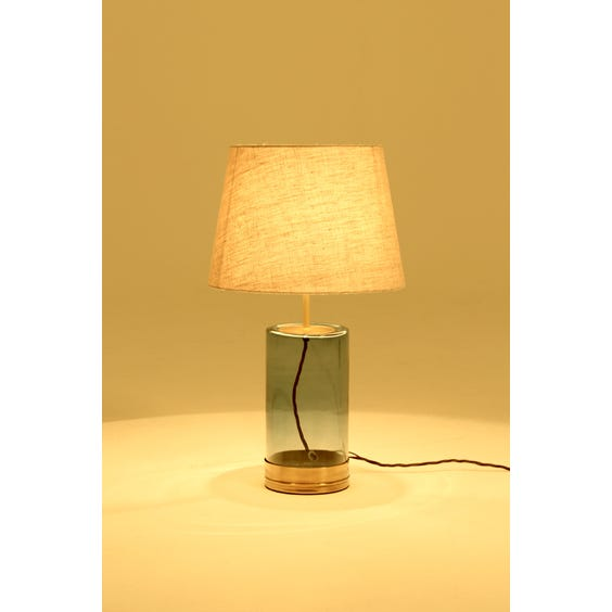 Blue smoked glass table lamp image