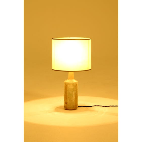 Vintage glazed ribbed table lamp image