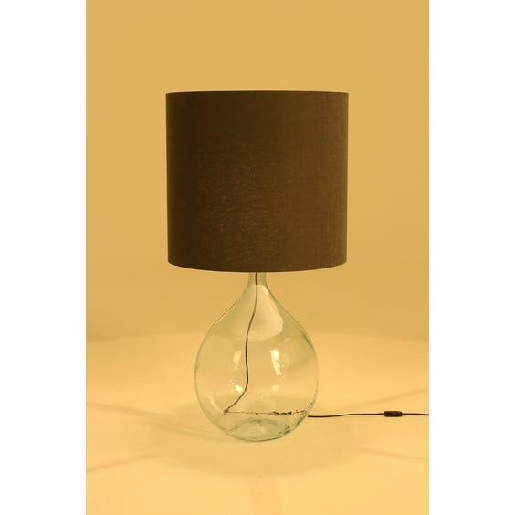 Large tinted glass bottle floor lamp image