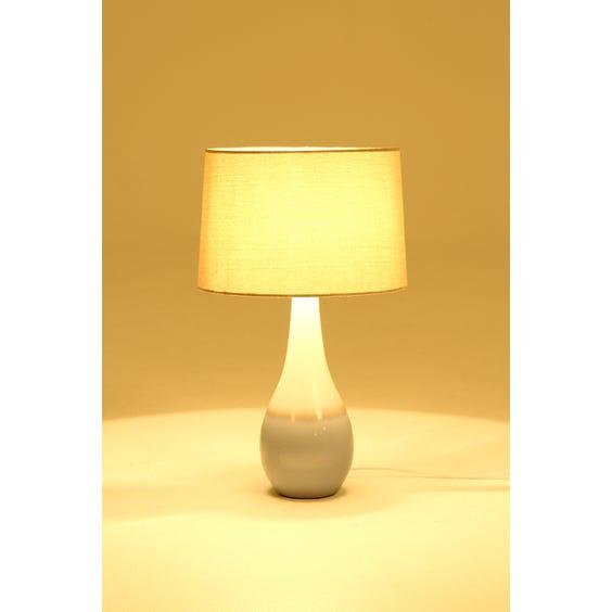 Two tone ceramic teardrop table lamp image