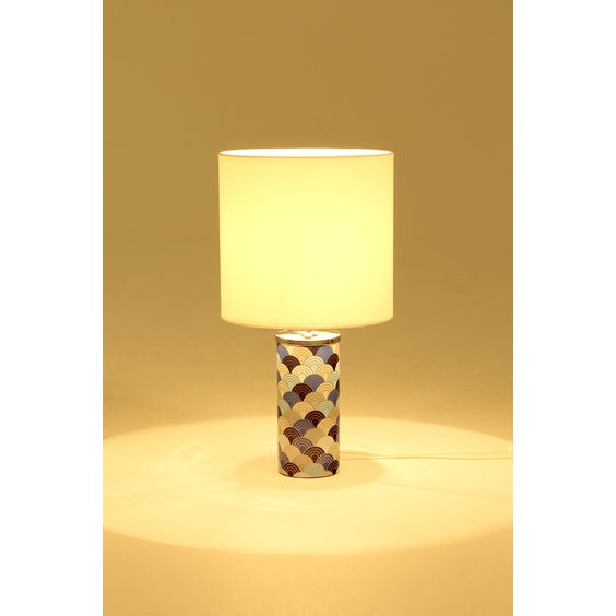 Blue scale pattern table lamp image