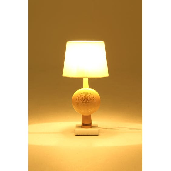Mustard disc shaped table lamp image
