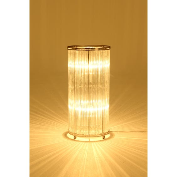 Reeded glass column table lamp image