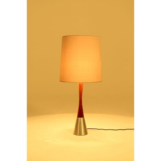 Danish rosewood table lamp image