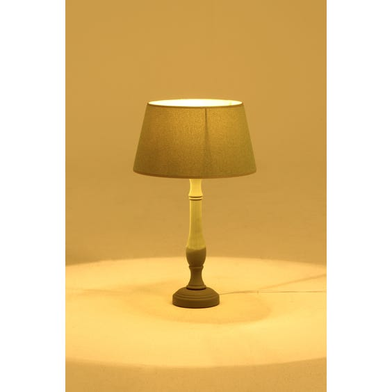 Olive green candlestick table lamp image
