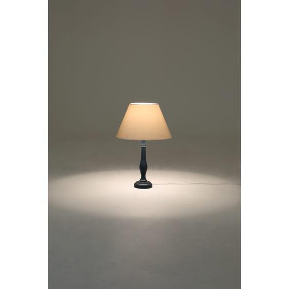 Dark blue candlestick table lamp image