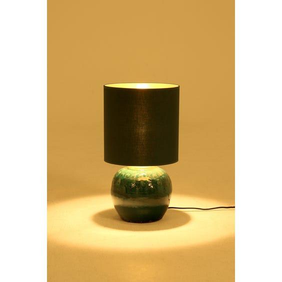 Teal glazed  ceramic table lamp image