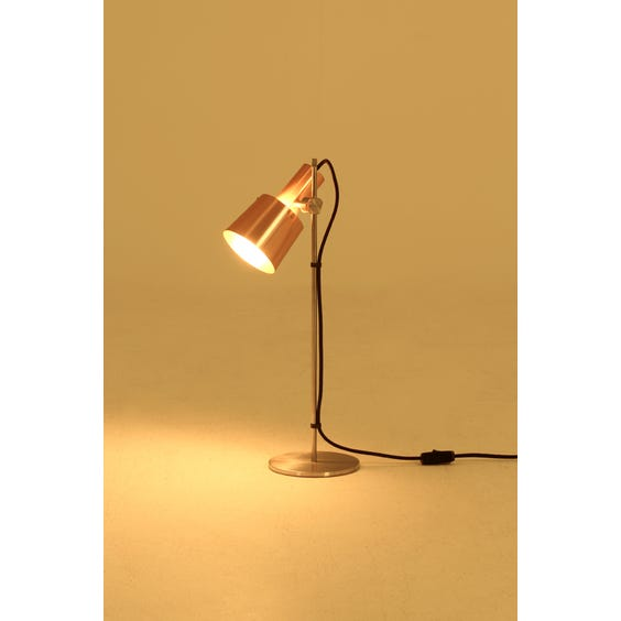 Rose gold adjustable table lamp image