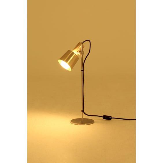 Brass adjustable head table lamp image
