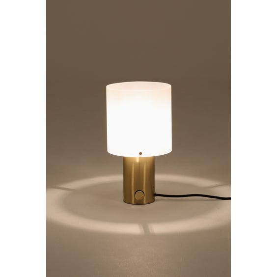 Brass and perspex table lamp image