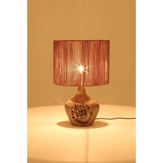 Midcentury ceramic cut out lamp image