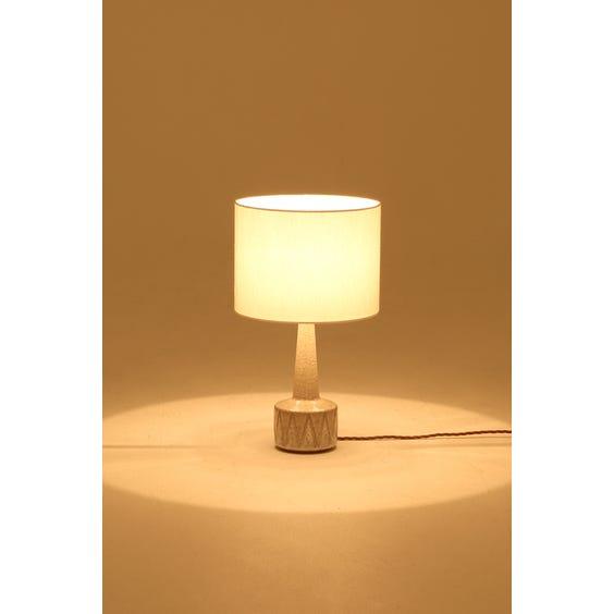 Midcentury speckled glazed lamp image