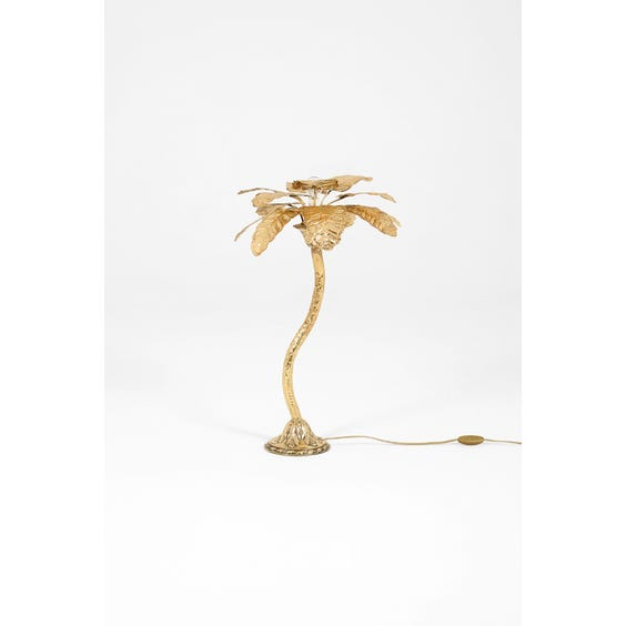 Brass palm tree table lamp image