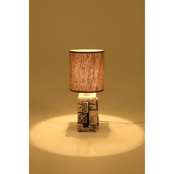 1970's rock sculpture lamp image