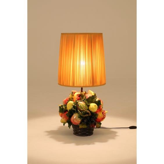 Ceramic tropical fruit lamp image