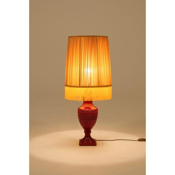 Red glazed urn shaped lamp image