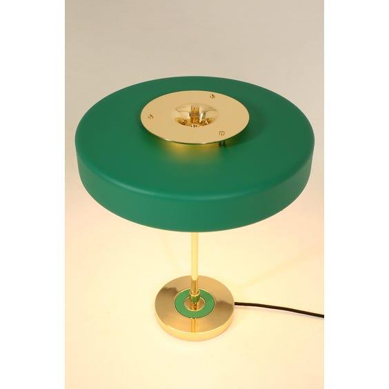 Midcentury green disc lamp image