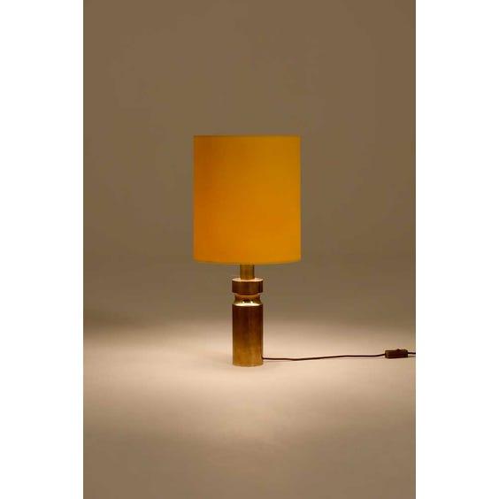 Brass column table lamp image