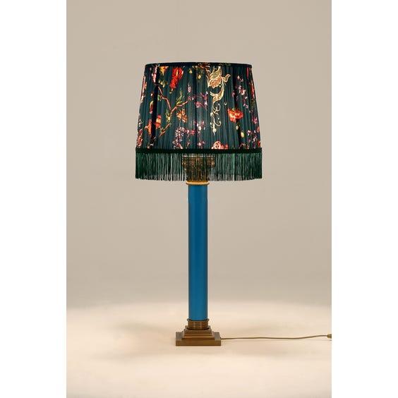 Blue Corinthian column lamp image