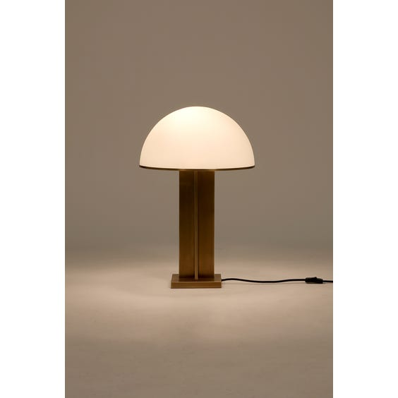 Brushed brass sculptural table lamp image