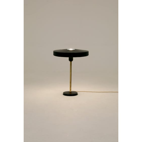 Dark forest green table lamp image