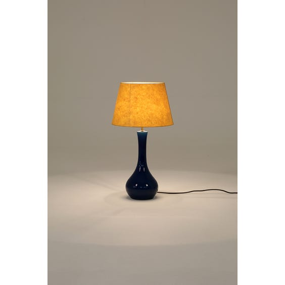 Cobalt blue ceramic table lamp image