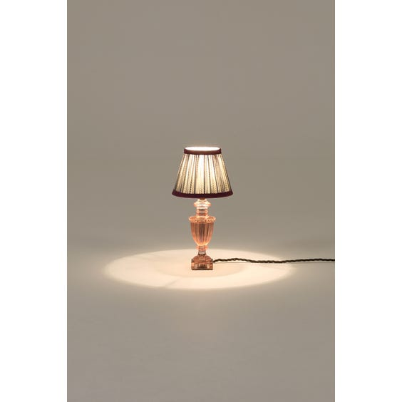 Rose tinted table lamp image