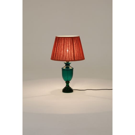 Emerald green glass table lamp image