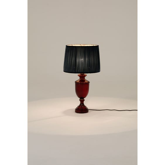 Crimson red glass table lamp image