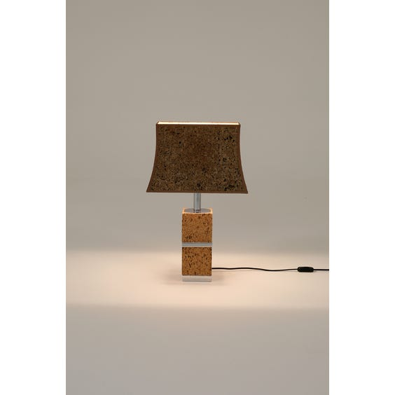Midcentury French cork table lamp image
