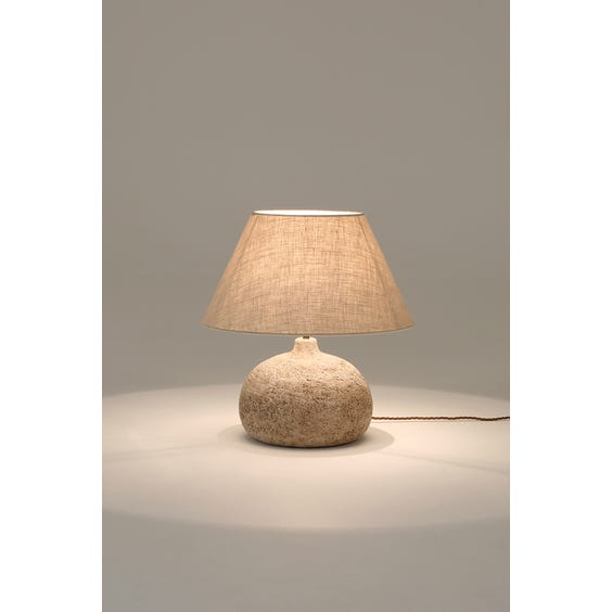 Midcentury oatmeal table lamp image
