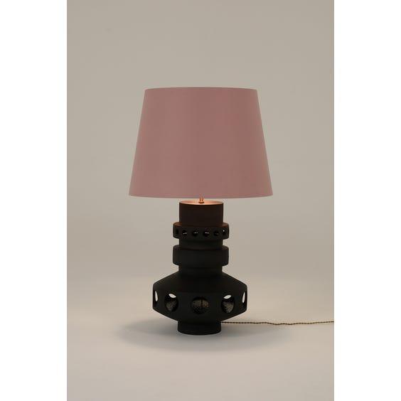 Midcentury volcano glazed table lamp image