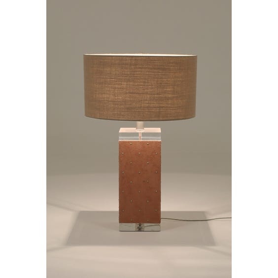 Karl Springer studded table lamp image