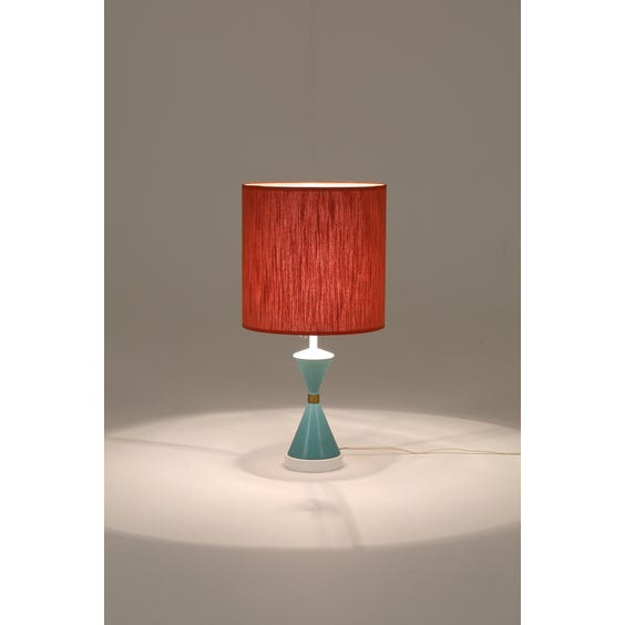 Midcentury hourglass table lamp image