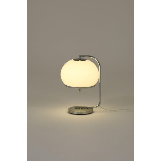 Midcentury bulbous opaque table lamp image